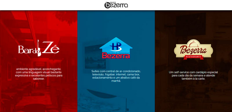 Website do Hotel Bezerra