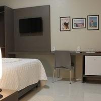 Local para Refeições dos apartamentos no com Frigobar e Mesa redonda de 4 cadeiras no Hotel e Pousada Bezerra