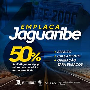 Emplaca Jaguaribe - 50% do IPVA que você paga retorna em benefícios para nossa cidade